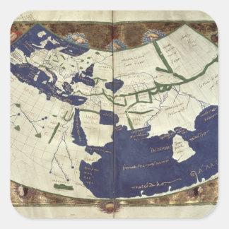 「Geographiaからの知られていた世界の地図、 スクエアシール