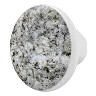 Geology White Granite Rock Texture セラミックノブ