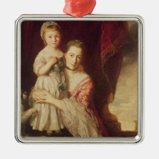Georgianaの女性が付いている伯爵婦人のスペンサー メタルオーナメント
