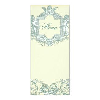 Georgianaの(クリーム色の)結婚式メニュー 10.2 X 23.5 インビテーションカード