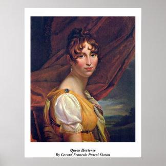 Gerard Francoisパスカルサイモン著Hortense女王 ポスター