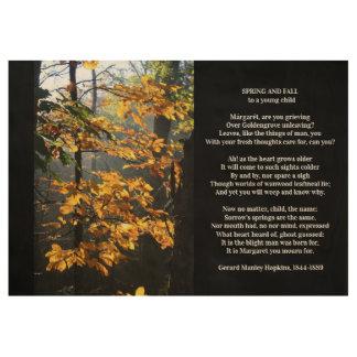 Gerard Manley Hopkinsのクラシックの詩歌 ウッドポスター