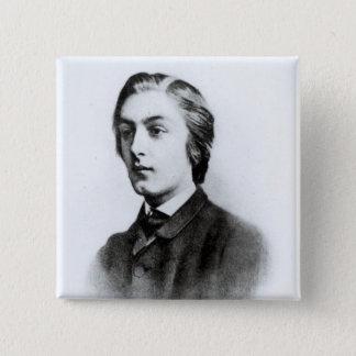 Gerard Manley Hopkins 5.1cm 正方形バッジ