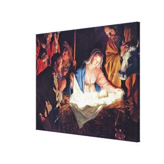 Gerard van Honthorst著羊飼いの崇敬 キャンバスプリント