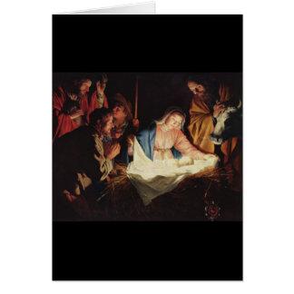 Gerard van Honthorst Nativity グリーティングカード