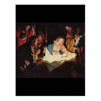 Gerard van Honthorst Nativity ポストカード