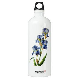 Gerard van Spaendonが自然から描く青いアイリス ウォーターボトル
