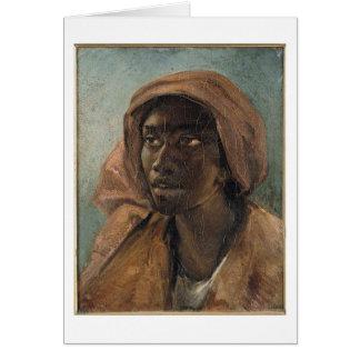 Gericault著若い黒人の女性 カード