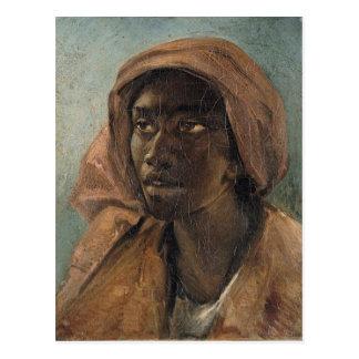 Gericault著若い黒人の女性 ポストカード