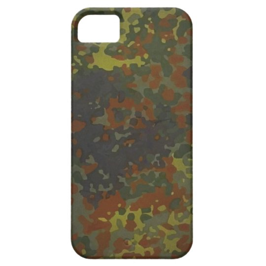German military Fleck camouflage iPhone SE/5/5s ケース