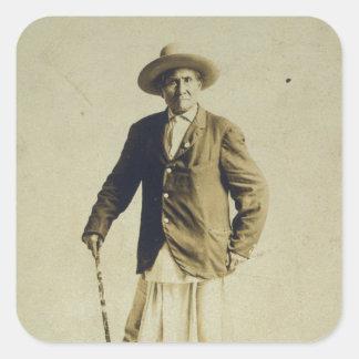 Geronimoの主な永続的なポートレート1904年 スクエアシール
