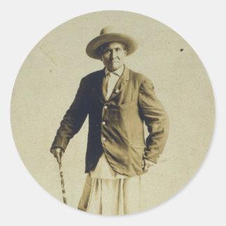 Geronimoの主な永続的なポートレート1904年 ラウンドシール