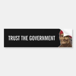 Geronimoの信頼の政府のバンパーステッカー バンパーステッカー