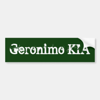 Geronimo KIA -役立つ正義 バンパーステッカー