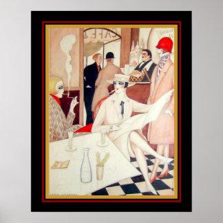 Gerta Wegener Art Deco Watercolor on Paper 16 x 20 ポスター