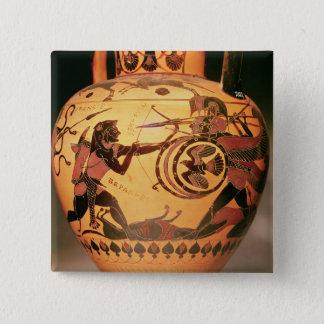 Geryonを戦うHeracles 5.1cm 正方形バッジ