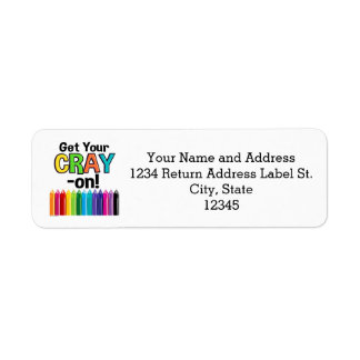 Get your Cray On Rainbow Crazy Crayon Art Teacher ラベル