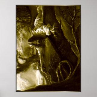 Gethsemaneの庭のイエス・キリスト苦悶 ポスター