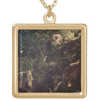 Gethsemane 2の庭のキリスト ゴールドプレートネックレス
