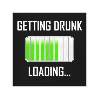 Getting Drunk Loading Funny キャンバスプリント
