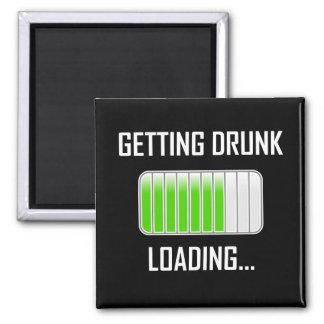Getting Drunk Loading Funny マグネット
