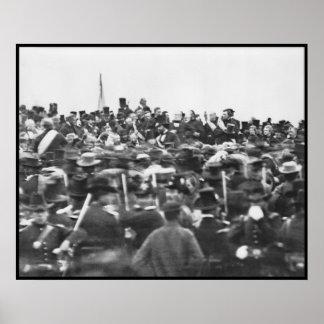 Gettysburgの住所、エイブラハム・リンカーン ポスター