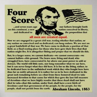 Gettysburgの住所 ポスター
