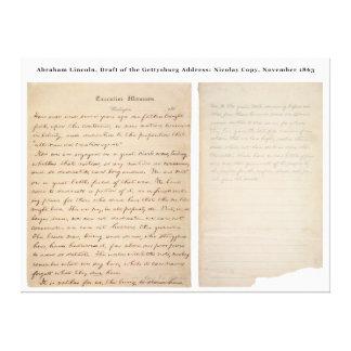 Gettysburgの住所Nicolayのコピー(1863年) キャンバスプリント