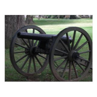 Gettysburgの内戦の大砲 ポストカード