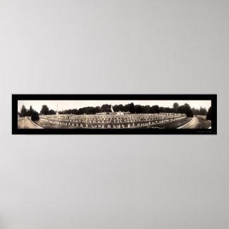 Gettysburgの写真1913年の墓地 ポスター