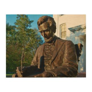 Gettysburgの大学-エイブラハム・リンカーンの記念物 ウッドウォールアート