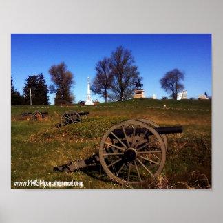 Gettysburgの幽霊-山腹の大砲 ポスター