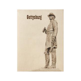Gettysburgの彫像木ポスター ウッドポスター