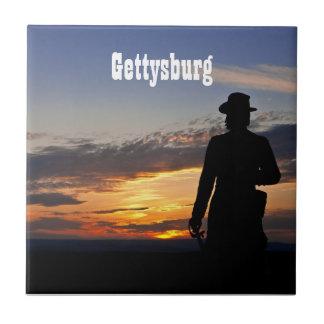 Gettysburgの日没のタイル タイル