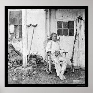 Gettysburgの英雄、ジョンは1863年を燃やします ポスター