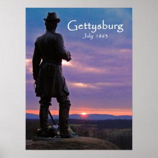 Gettysburg -少し円形上 ポスター