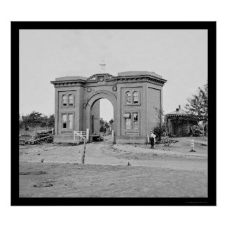 Gettysburg 1863年の墓地のGatehouse ポスター