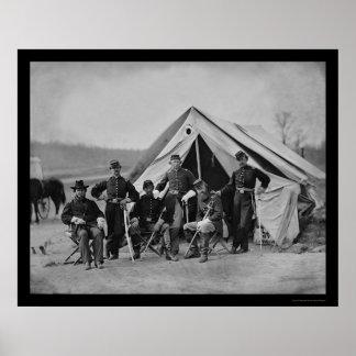 Gettysburg 1863年の役人 ポスター
