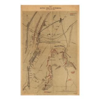 Gettysburg 1863年7月1日の第2第3戦場 便箋