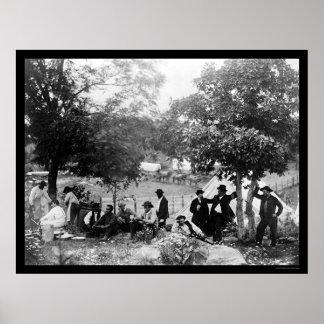 Gettysburg、PA 1865年の兵士の国有記念物 ポスター
