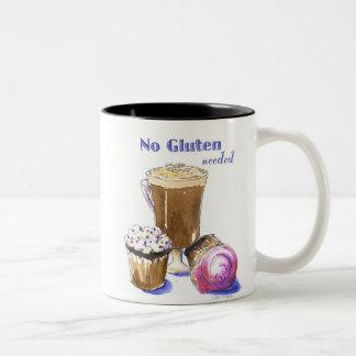 GFのカップケーキ及びカプチーノのマグ ツートーンマグカップ