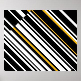 GFの対角線へのオップアートの尊敬は4つを並べます ポスター