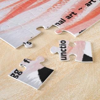 GGの焼跡による休日のサンタの暖かいフラミンゴ ジグソーパズル