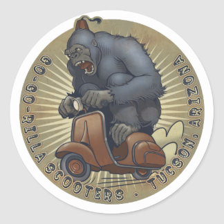 GGR色のロゴのステッカー ラウンドシール