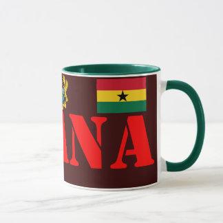 GHANA*の頂上および旗のコーヒー・マグ マグカップ