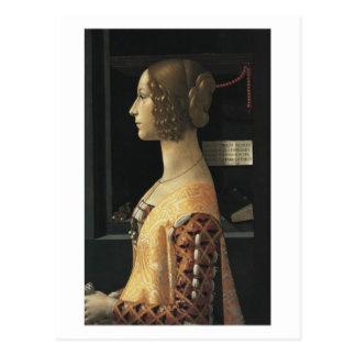 Ghirlandaioの郵便はがきによるジョヴァンナTornabuoni ポストカード