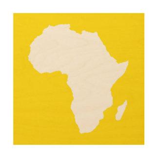 GHolden黄色く大胆なアフリカ ウッドウォールアート