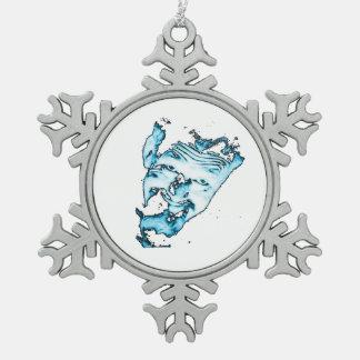 Ghoulardiの(青い)ピューターの雪片のオーナメント スノーフレークピューターオーナメント