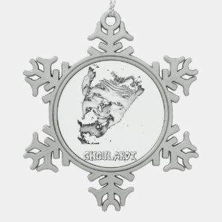 Ghoulardiの(黒いまたは白)ピューターの雪片のオーナメント スノーフレークピューターオーナメント