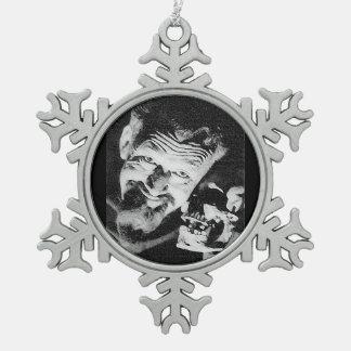 Ghoulardi (W/Skull-1)のピューターの雪片のオーナメント スノーフレークピューターオーナメント